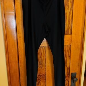 Eileen Fisher washable stretch crepe black pants